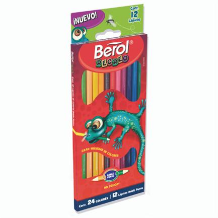 Colores Berol Recreo Largos Doble Punta C/12 Pzas