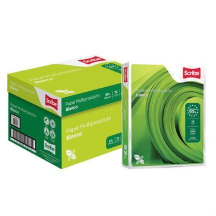 Papel para Copiadora Scribe Carta Verde 93% Blancura Caja C/5000 Hojas